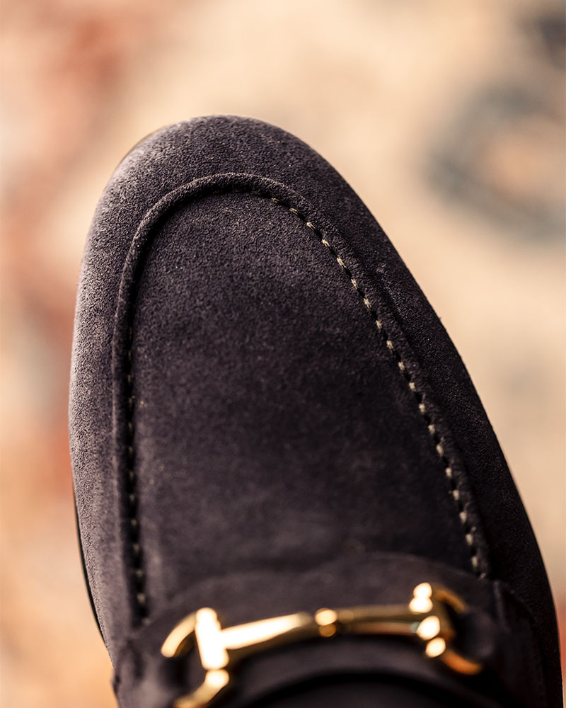 Berwick1707 for HOAX|5361 Lightweight Bit Loafers・Baltic Suede