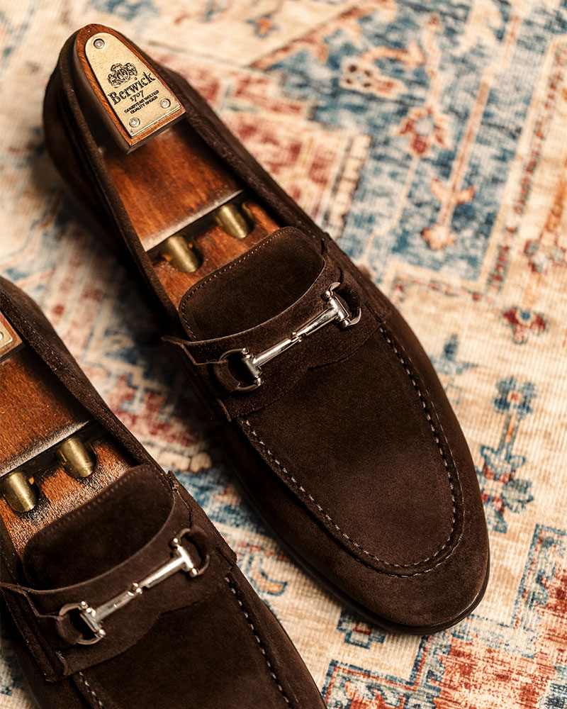Berwick1707 for HOAX|5361 Lightweight Bit Loafers・173 Suede