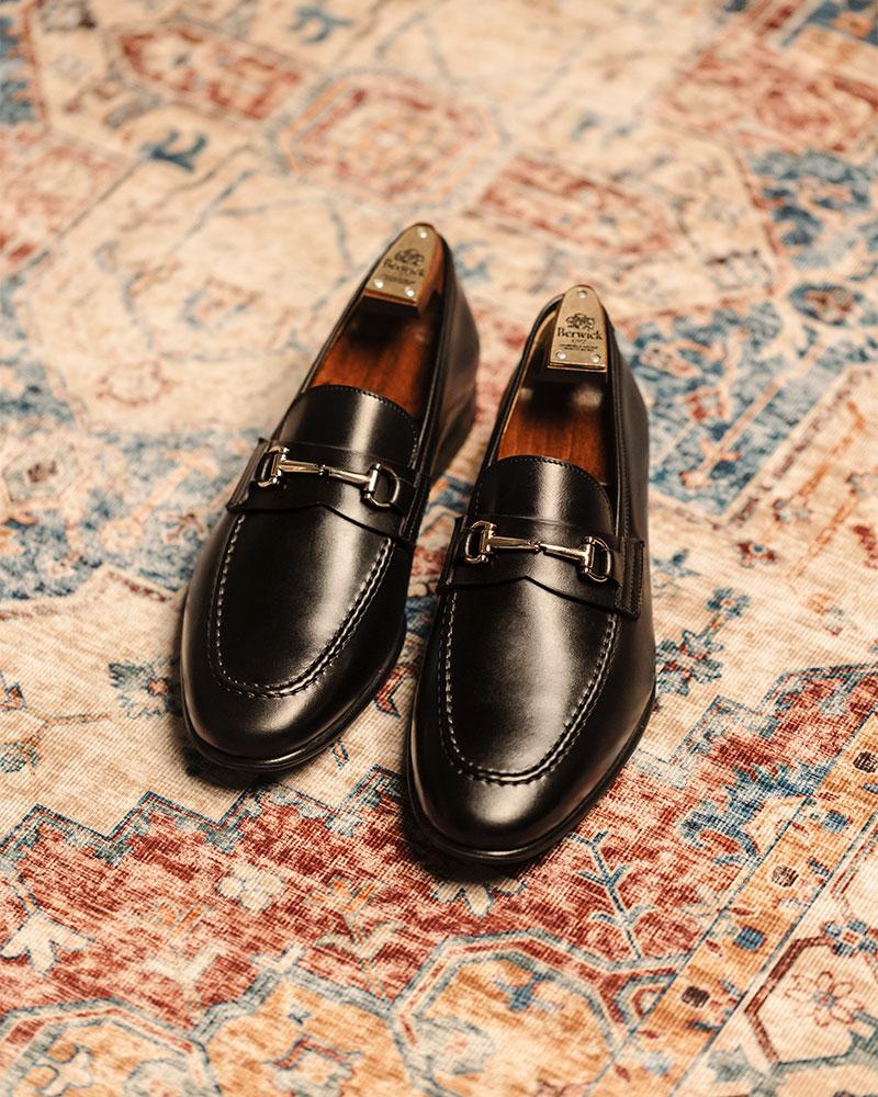 Berwick1707 for HOAX|5361 Lightweight Bit Loafers・Black