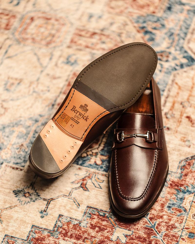 Berwick1707 for HOAX|5361 Lightweight Bit Loafers・Moka