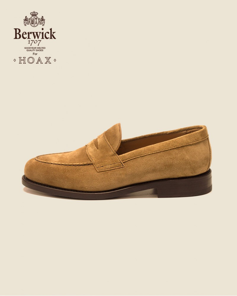 Berwick1707 for HOAX|9628 Penny Loafers・Rame Suede