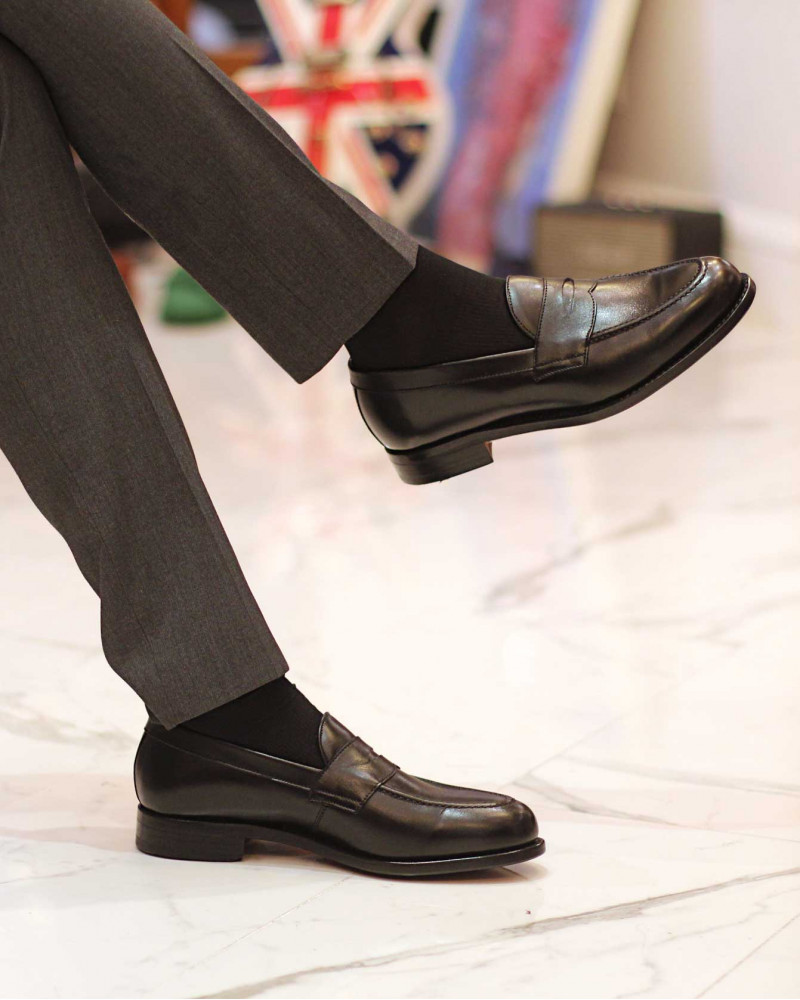 Berwick1707 for HOAX|9628 Penny Loafers・Black
