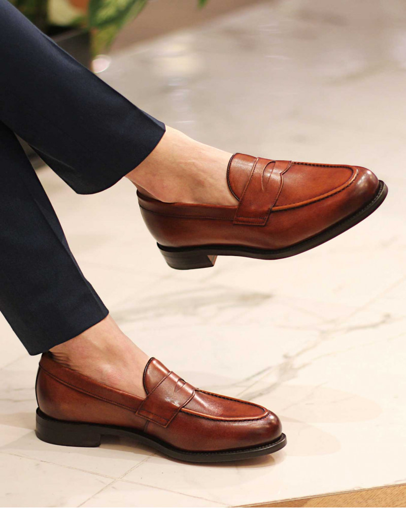 Berwick1707 for HOAX|9628 Penny Loafers・Tan
