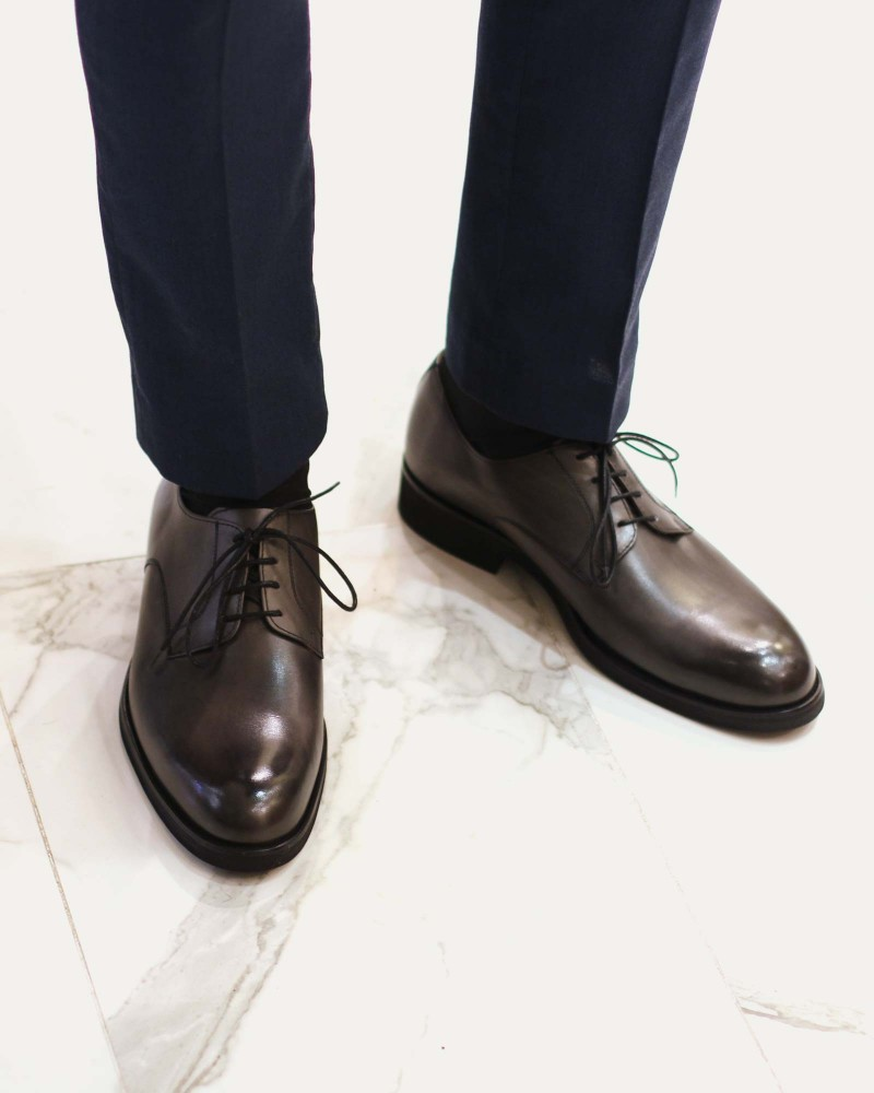 Paco Milan|4854 Plain Toe Derby・Grey