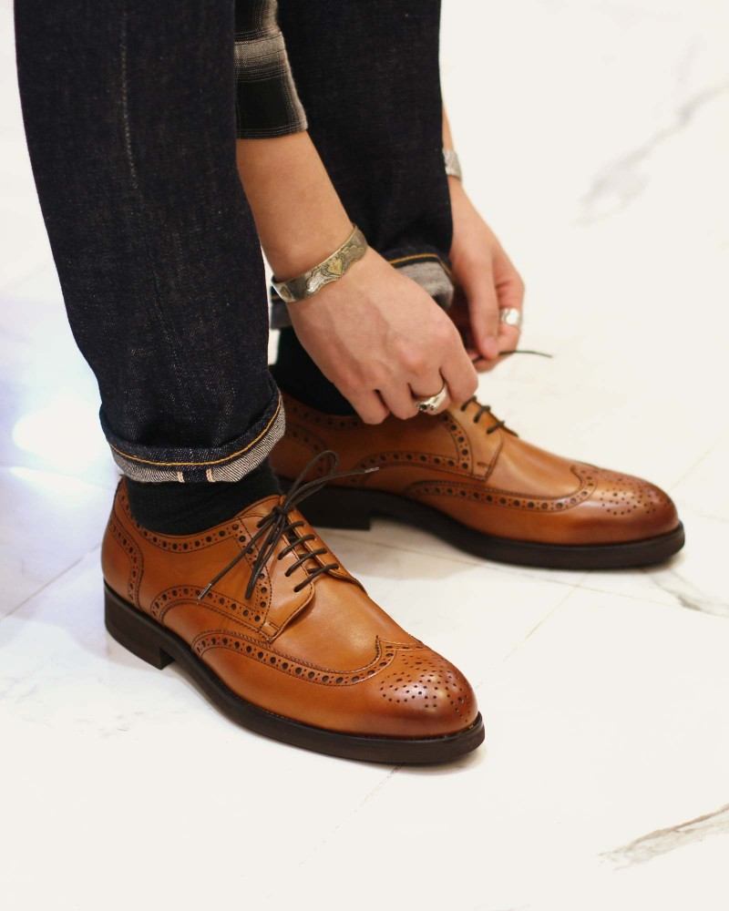 Paco Milan|5150 Wingtips Derby・Tan