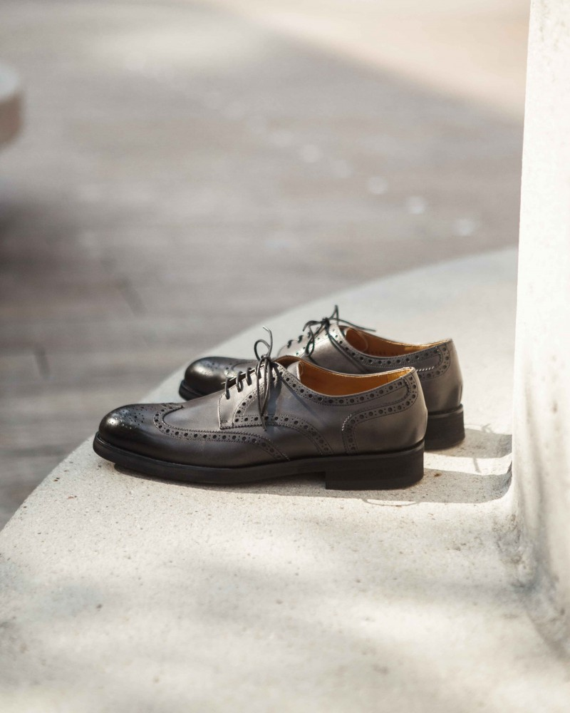 Paco Milan|5150 Wingtips Derby・Grey