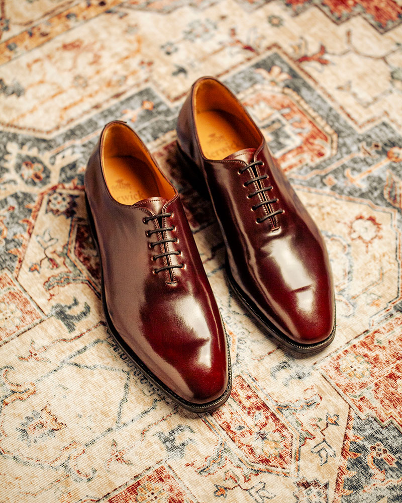 西班牙直送|Berwick1707 Premium Grade|Cordovan Whole Cut Oxford・Color 8