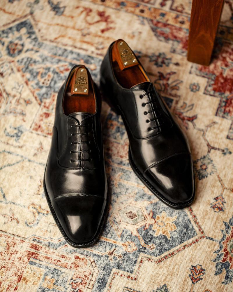 西班牙直送|Berwick1707 Premium Grade|Cordovan Captoe Oxford・Black