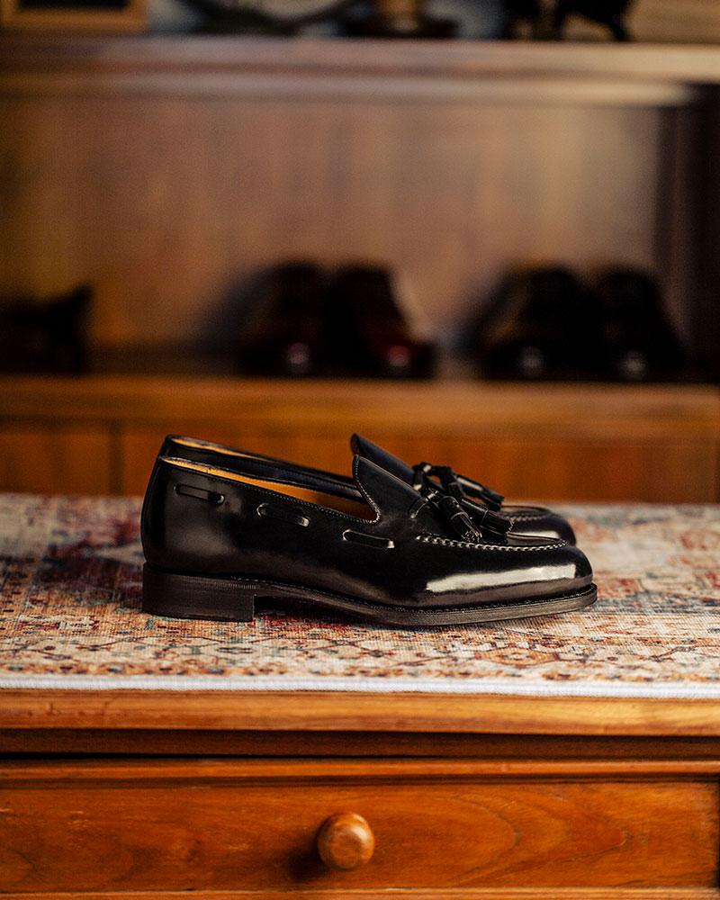 西班牙直送|Berwick1707 Premium Grade|Cordovan Tassel Loafers・Black