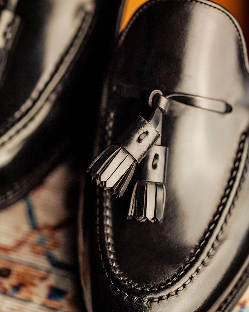 西班牙直送|Berwick1707 Premium Grade|8491 Cordovan Tassel Loafers・Black