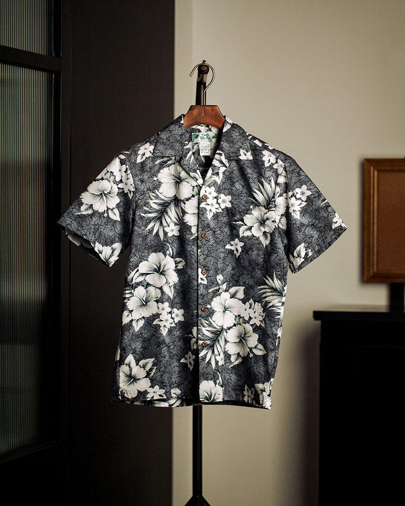 Two Palms|Crack Hibiscus Aloha Shirt