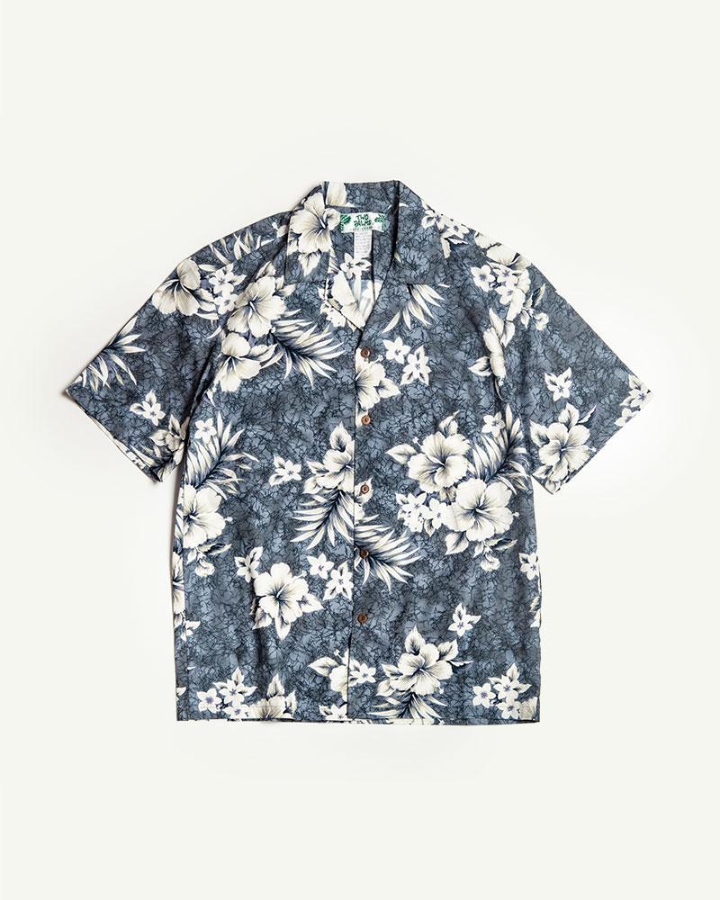 Two Palms|Crack Hibiscus Aloha Shirt