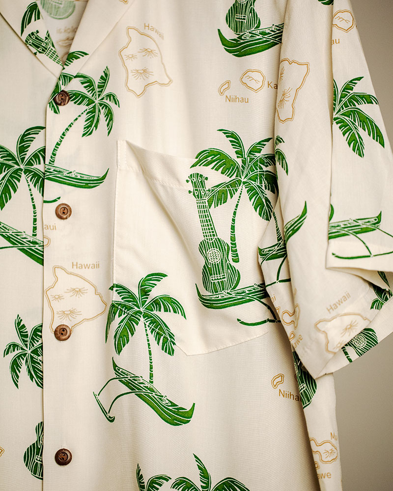 Two Palms|Islands Aloha Shirt・Cream