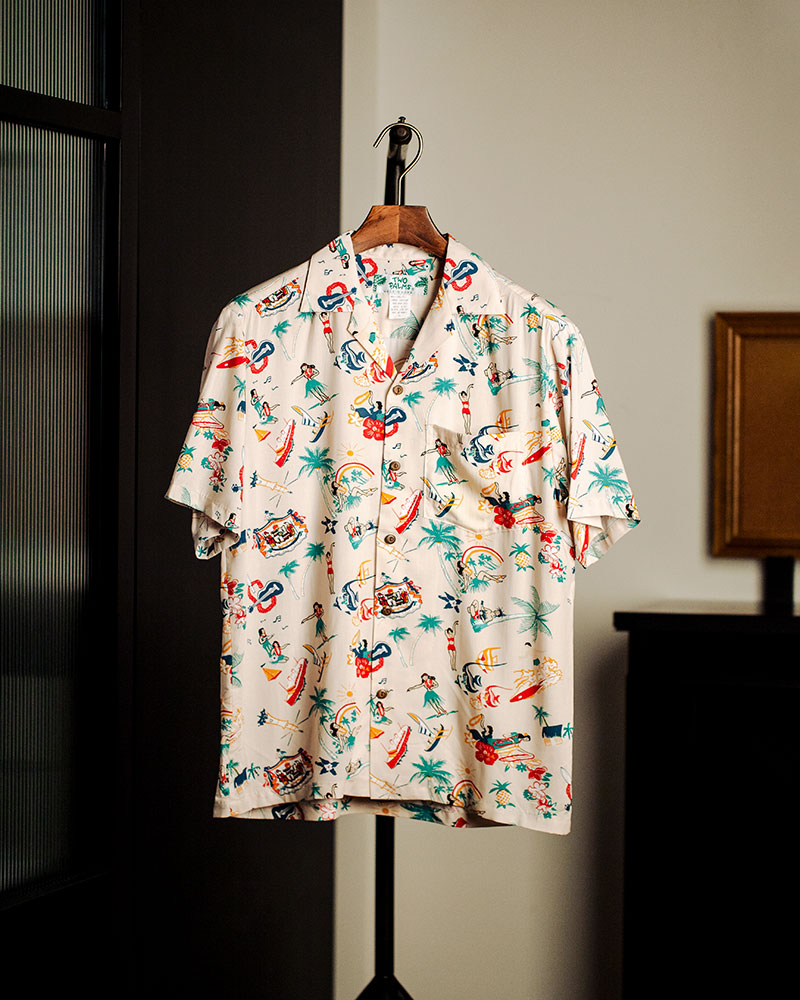 Pre-order|Two Palms|Vintage Aloha Shirt・Cream
