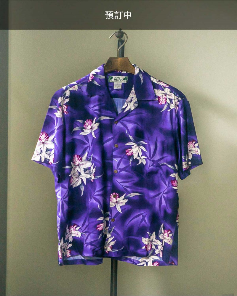 Two Palms|Midnight Orchid Aloha Shirt