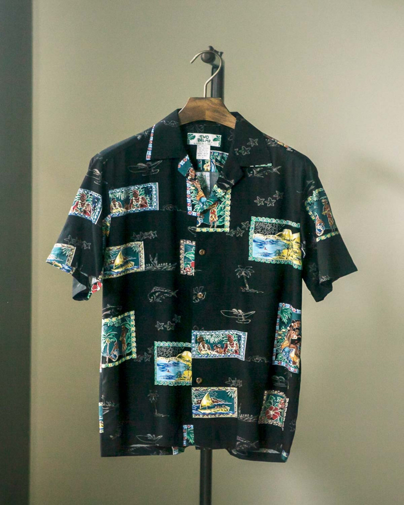 Two Palms|Postcard Aloha Shirt