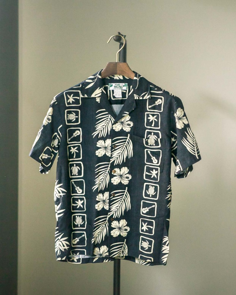 Two Palms|Squares Aloha Shirt