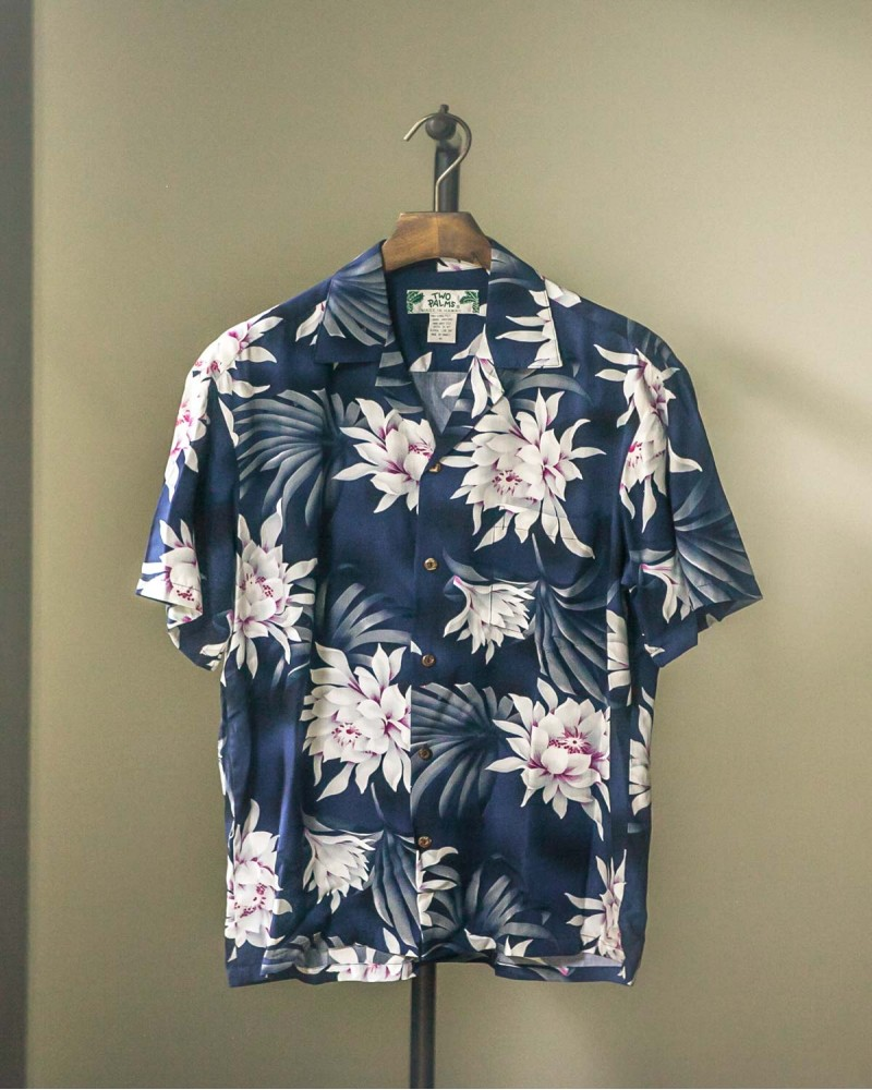 Two Palms|Night Blooming Aloha Shirt