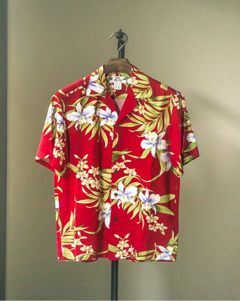 Two Palms|Pali Orchid Aloha Shirt・Red