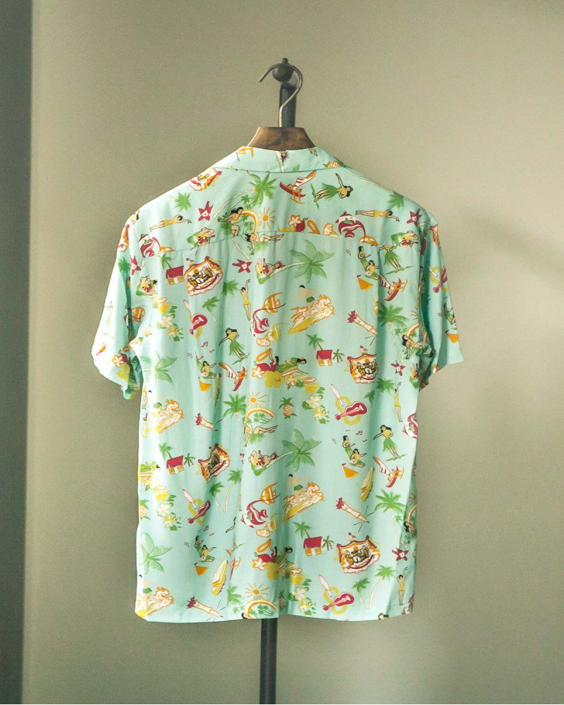 Two Palms|Vintage Aloha Shirt・Aqua