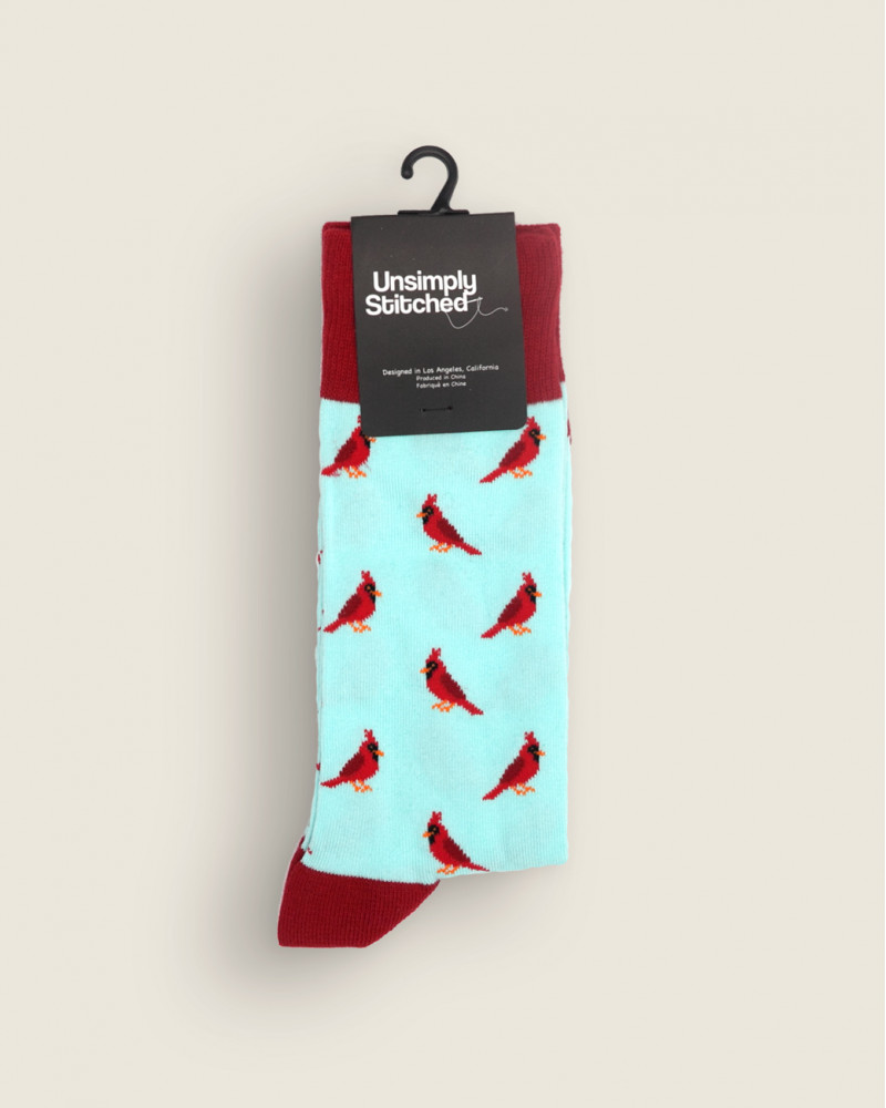 Unsimply Stitched|Cardinal Socks