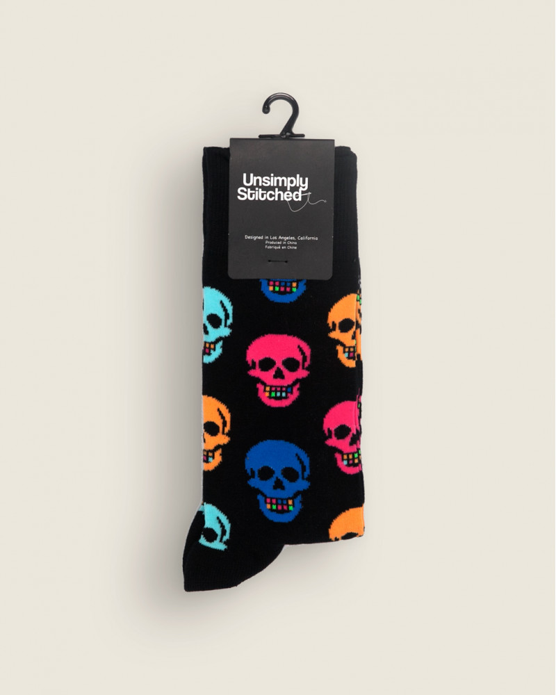 Unsimply Stitched|Skull Socks