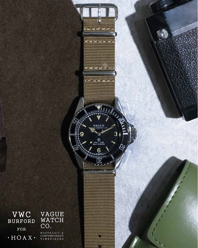 VAGUE WATCH Co. x HOAX Burford MilSub・NATO Nylon Straps