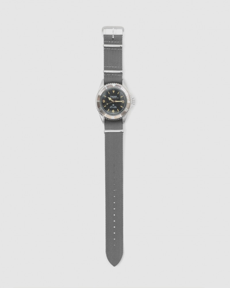 VAGUE WATCH Co. x HOAX Burford MilSub NATO Nylon Straps・Grey