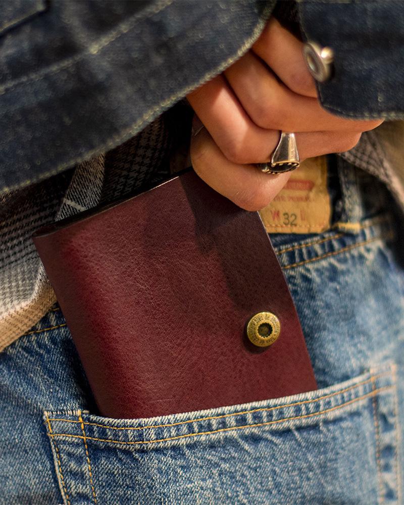 Bleu de Chauffe|GRISBI Leather Wallet