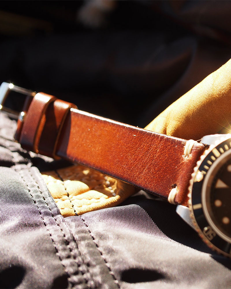 ANZIANO|Divenza Caffe 20mm Vintage Watch Leather Strap