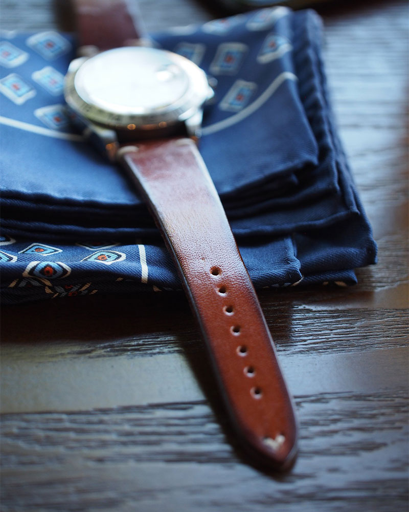 ANZIANO|Divenza Nocciola 20mm Vintage Watch Leather Strap