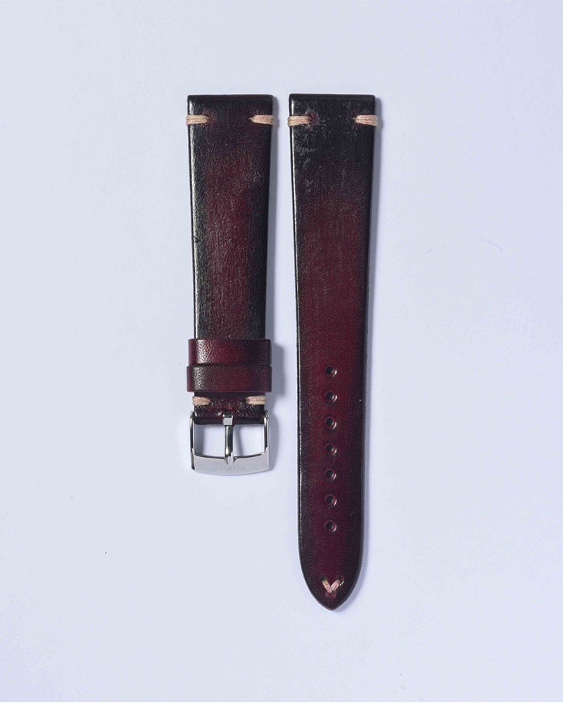 ANZIANO|Divenza Vino 20mm Vintage Watch Leather Strap