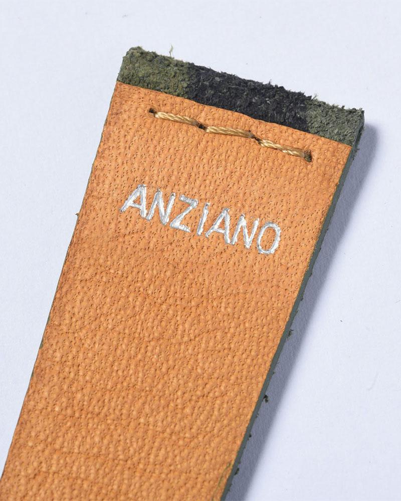 ANZIANO|Mosciato Camu Militare 20mm Leather Watch Strap