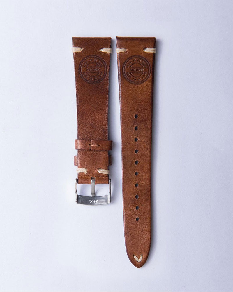 ANZIANO|Nuvoso Caramello 20mm Vintage Watch Leather Strap