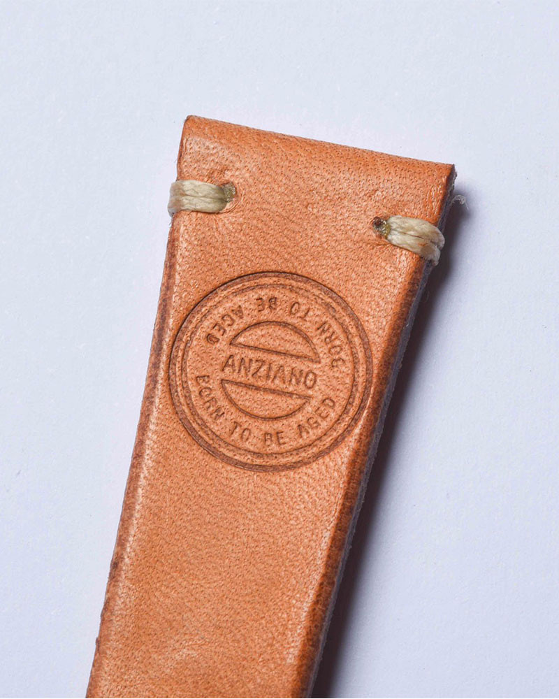 ANZIANO|Vachetta Tan 20mm Vintage Watch Leather Strap