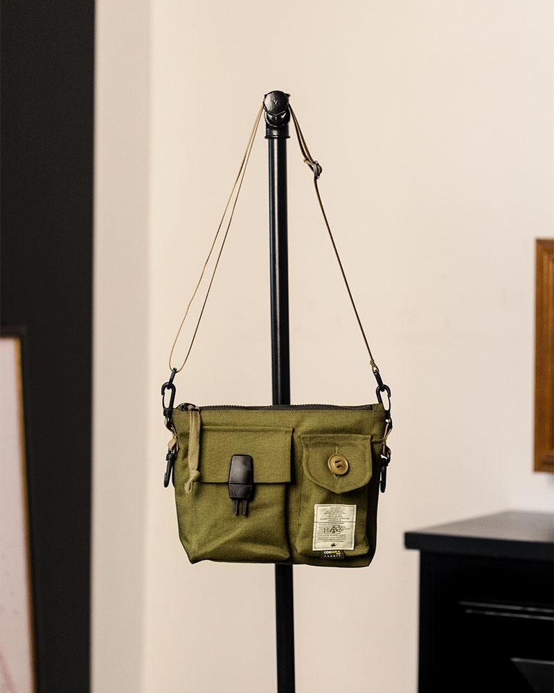 Club Stubborn x HOAX|Canadian Combat Shoulder Bag.Olive