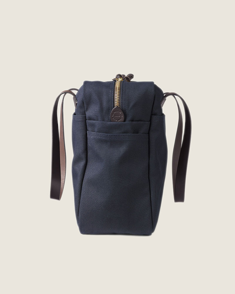 Filson Rugged Twill Tote Bag with Zipper.Navy