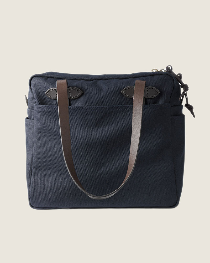 Filson|Rugged Twill Tote Bag with Zipper.Navy