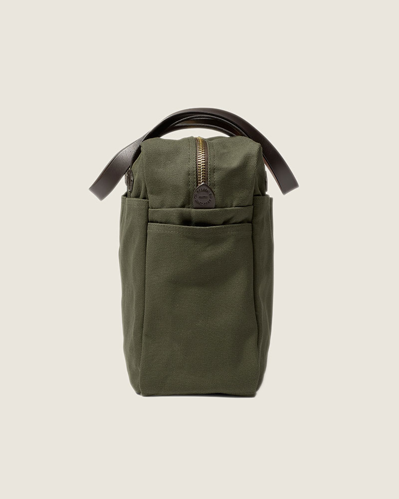 Filson Rugged Twill Tote Bag with Zipper.Otter Green