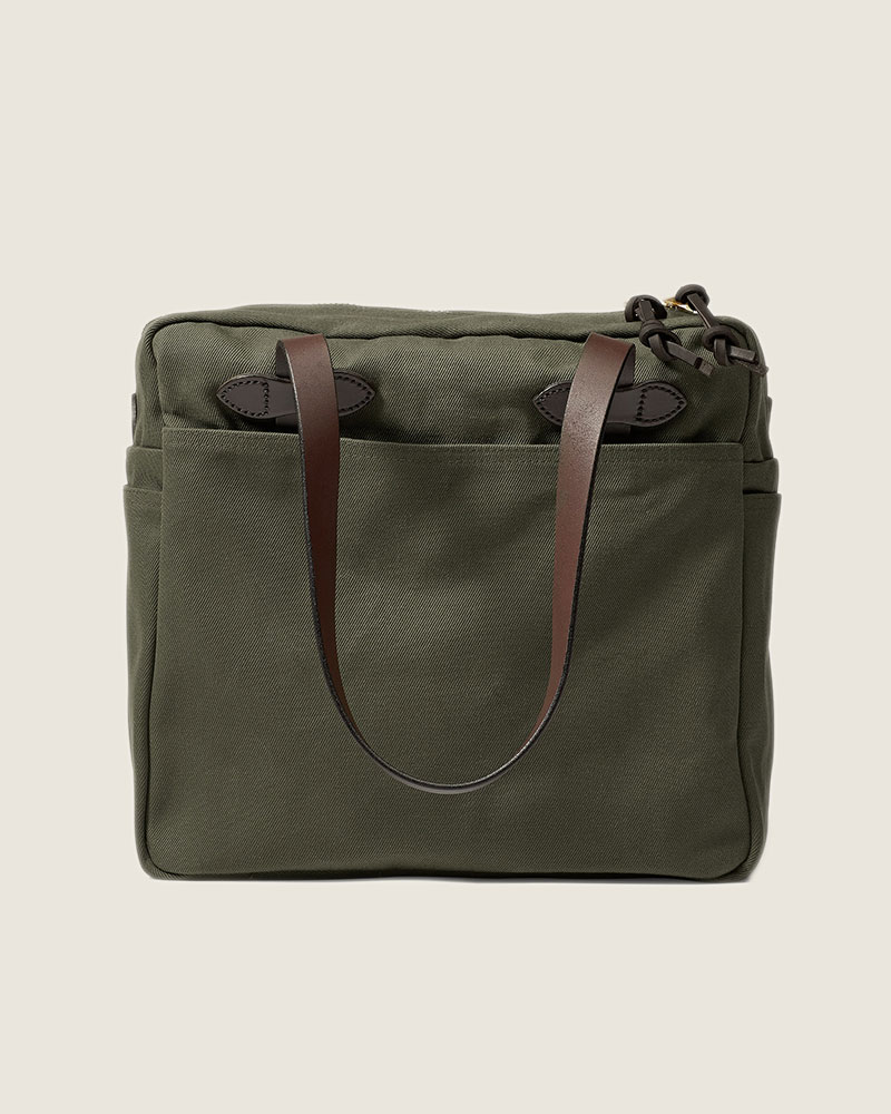 Filson|Rugged Twill Tote Bag with Zipper.Otter Green