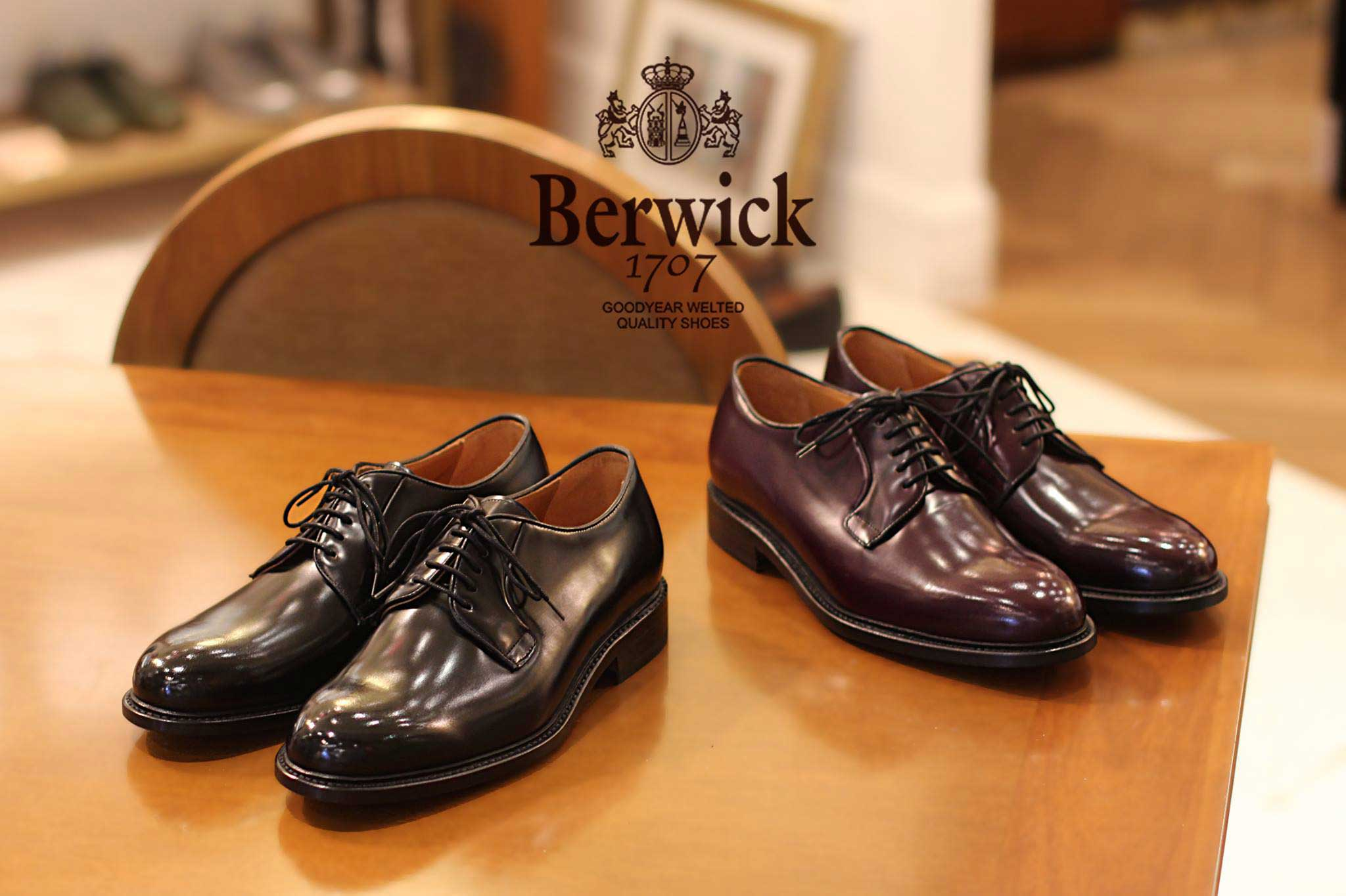 Berwick 1707 無飾德比鞋 Plain Toe Derby - Burgundy