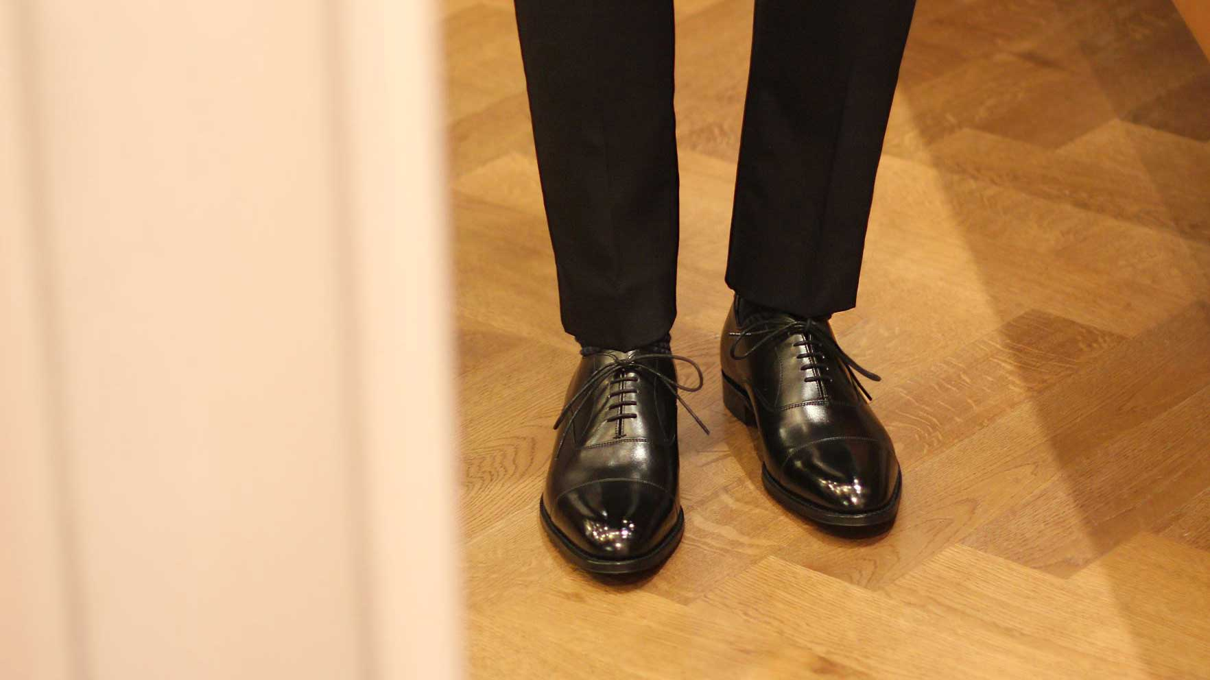 Joseph Cheaney & Sons 橫飾牛津鞋 Cap Toe Oxford - Black